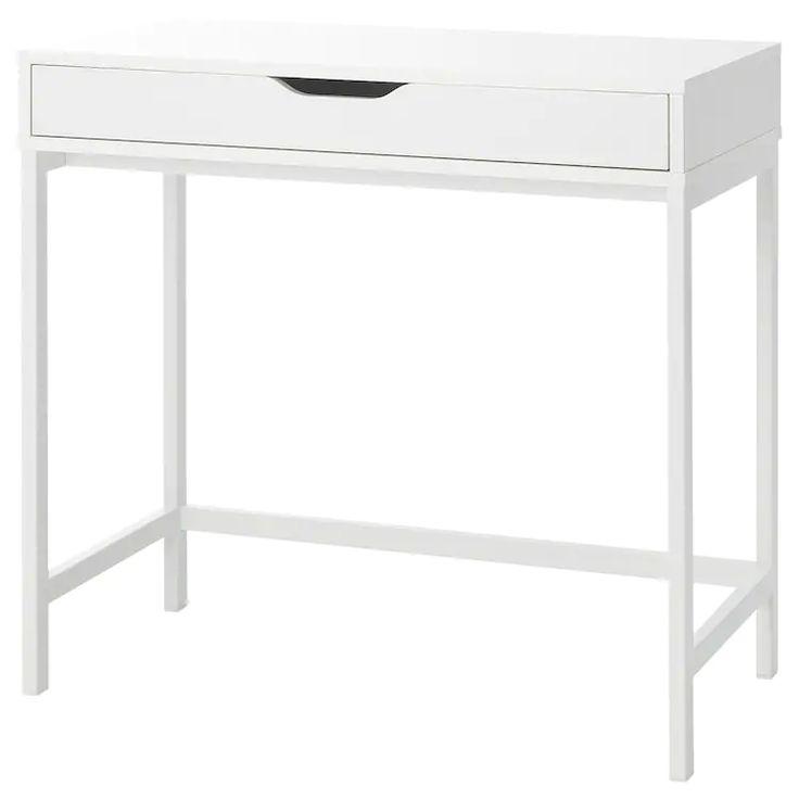 ALEX Schreibtisch, weiß, 79x40 cm   IKEA Deutschland   Schreibtisch weiss, Schreibtischideen ...