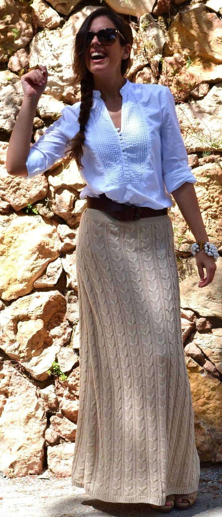 knit cable skirt