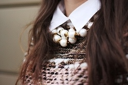 collar necklace: Style Seper, The Collars, Style Inspiration, Collars Necklaces, Vintage Sweaters, Collars Xxl, Collars Sweaters, Collars Trends, Closet Inspiration