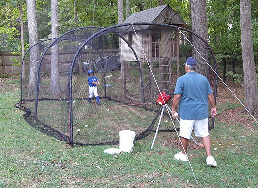 Backyard Batting Cage Discount Baseball Pitching Machines