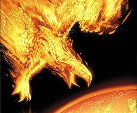 The Phoenix Force is a fictional entity appearing in American comic books published by Marvel Comics. The entity has bonded with other characters, and often used the alias Phoenix. The Phoenix Force is famous for its central role in The Dark Phoenix Saga storyline, and is frequently linked to Jean Grey. In 2009, Jean Grey as the Dark Phoenix was ranked as IGN's 9th Greatest Comic Book Villain of All Time.[2] Wizard list of Top 100 villains ranked the Dark Phoenix as 38th.