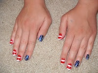 The Girl Who Cried Glitter: July 2011>>>I'm so considering rocking a patriotic nail design of some sort for the Peachtree Road Race on the 4th. Too much?? Lol......