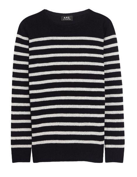 New Coat: A.P.C striped wool sweater / Garance Doré