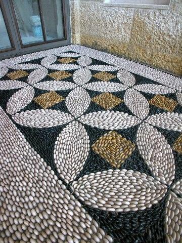 Pebble stone mosaic.