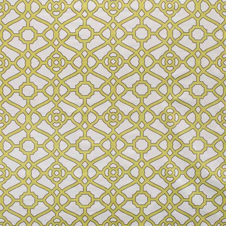 Warwick Fabrics : PAVILION CITRON