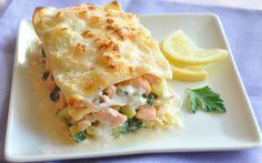 Lasagnes courgettes, saumon, citron