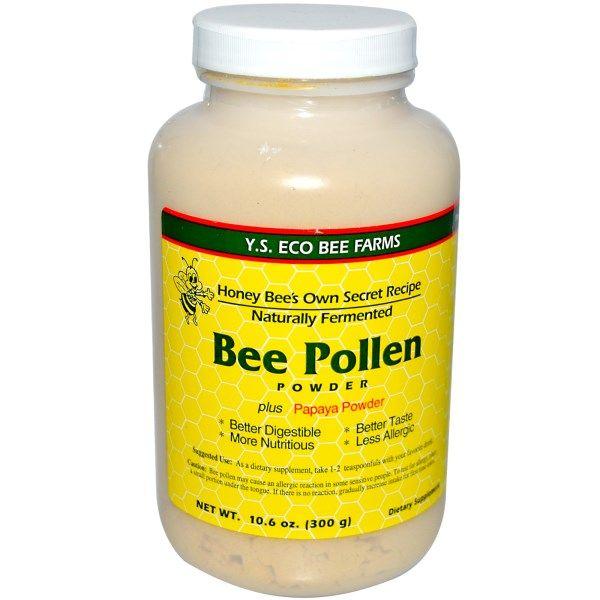 Y.S. Eco Bee Farms, Bee Pollen Powder, Plus Papaya Powder, 10.6 oz (300 g)