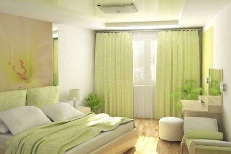 Интерьер маленькой спальни в светлых тонах фото