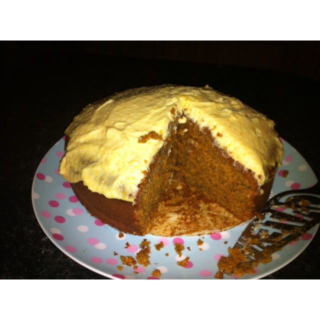 Thermomix carrot cake with icing, delicious!