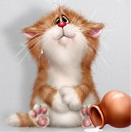Прикольные картинки котики с добрым утром, открытка