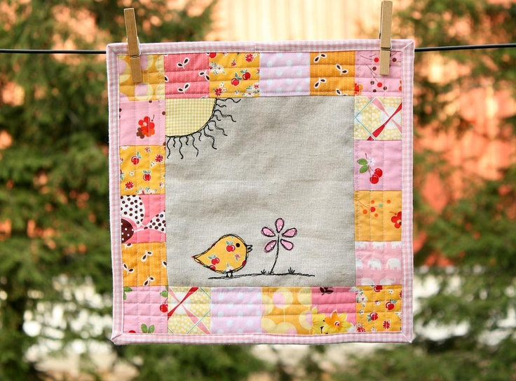 Why Not Sew?: Catching Up ...: Birdi Quilts, Crafts Ideas, Minis Quilts, Birds Quilts, Fabrics Postcards, Birdi Minis, Quilts Design, Crafty Ideassew, Quilts Ideas