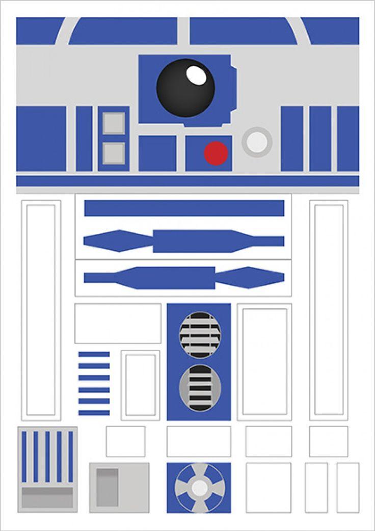 R2D2 - Star Wars - Ficção/Fantasia - Filmes | Posters Minimalistas