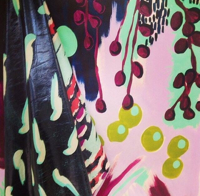 Extremely inspired by new designers winner Charlotte beevor's take on large scale colourful botanical print