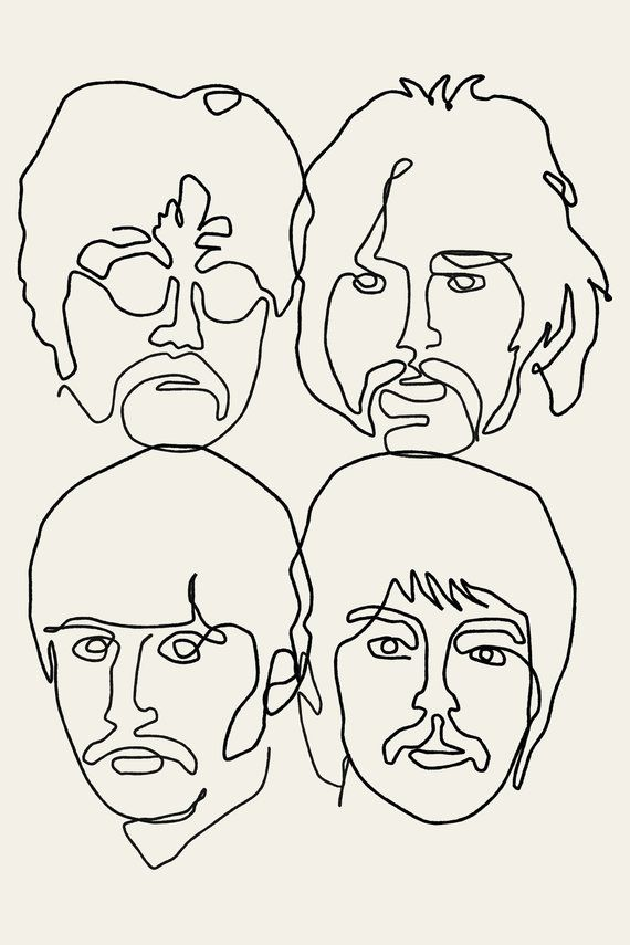 The Beatles Poster – Print, Original Print, the beatles room decor Art Print, Minimalist Print, Art, Graphic Poster, Song Poster