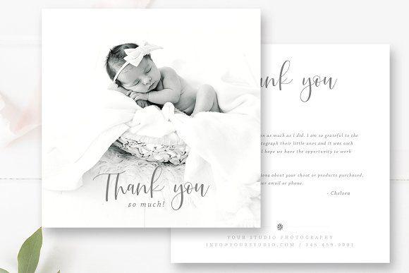 Thank You Card Template Thank You Card Template Photoshop Template Design Thank You Cards