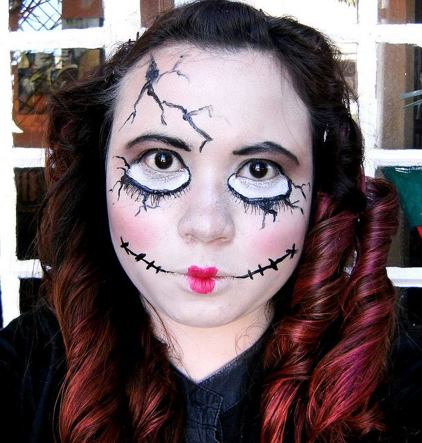 husky face paint idea for minis costume doll halloween costumesscary - Easy Scary Halloween Face Painting Ideas