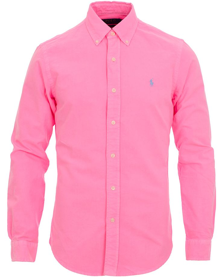 Polo Ralph Lauren Slim Fit Oxford Shirt Electric Pink i gruppen Skjortor / Casual Skjortor hos Care of Carl AB (11591011r)