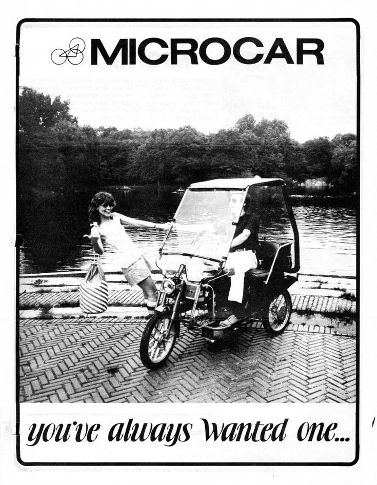"~ Quoting from the 1979 brochure: ""The Microcar conforms to National Highway Safety Commission specifications for moped and is legal as such in most places. It goes between 20 and 30 mph, conforming to local laws. It is an American-designed, American-made vehicle using a typical European moped engine and controls and can be serviced by any good moped dealer."" ~"