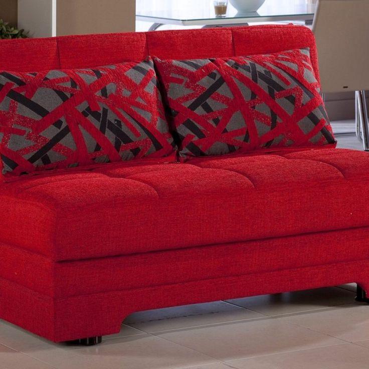Red Sleeper Sofa Slipcover