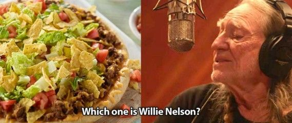 Pinterest doesn't know the difference between tacos and Willie Nelson . . . here's the difference ... lol . . . . #pinterest #willienelson
