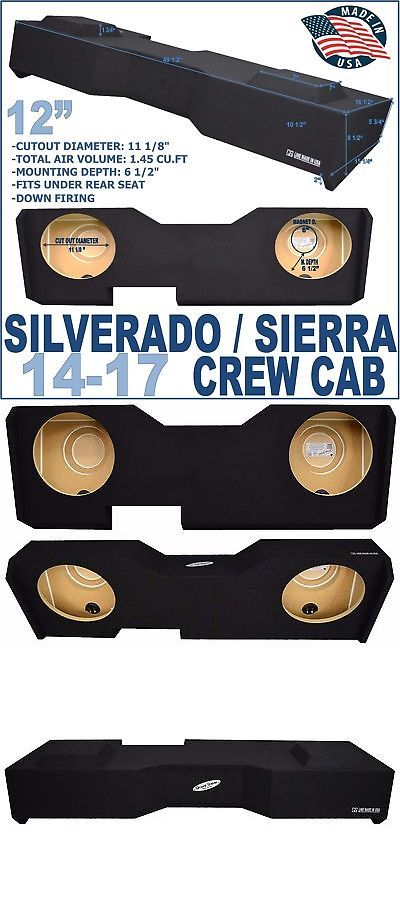 Speaker Sub Enclosures: Chevy Silverado Crew Cab Sub Box 12 Dual Sealed Sub Woofer Enclosure 2014-2017 -> BUY IT NOW ONLY: $159 on eBay!