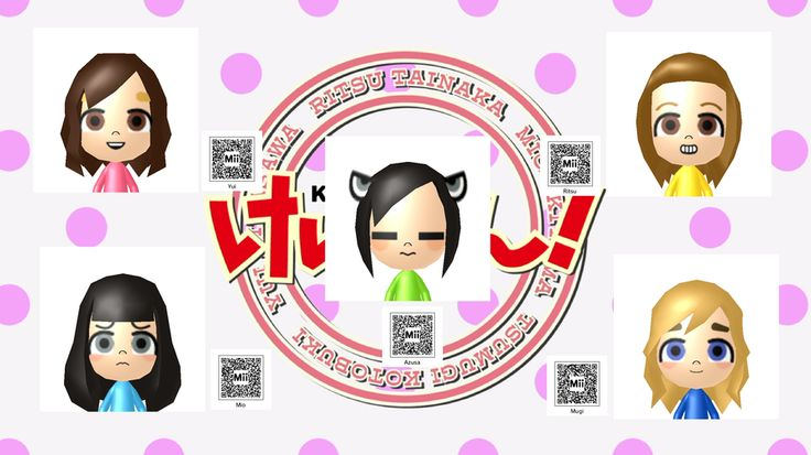 Anime Mii Characters 3ds : Mii qr codes anime k on by pochu google search miis