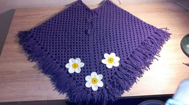 Galería: 31 Fotos de Capas y Ponchos para niñas a Crochet ~ CTejidas [Crochet y Dos Agujas]