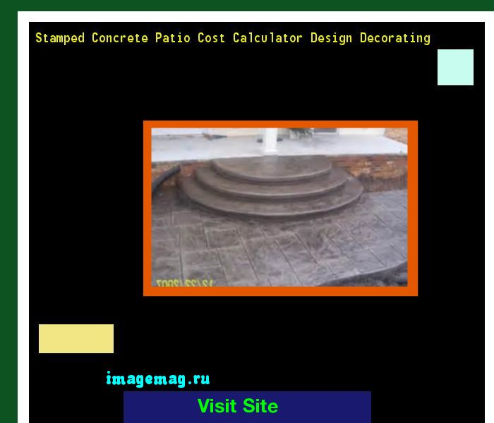 Stamped Concrete Patio Cost Calculator Design Decorating 163600   The Best  Image Search