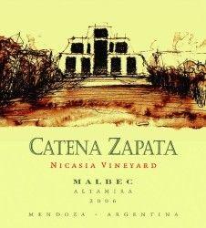 Bodega Catena Zapata 2006 Nicasia Vineyard Malbec (Mendoza)