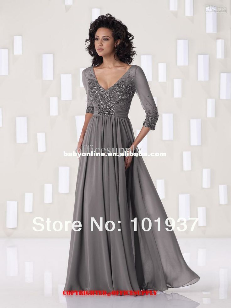 Discount Mother of Bride Dresses | ... Cheap Mother Of The Bride Dresses,2be263 Cheap Chiffon A Line Gray V