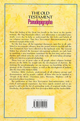 The Old Testament Pseudepigrapha, Volume 1: Apocalyptic Literature and Testaments (The Anchor Yale B
