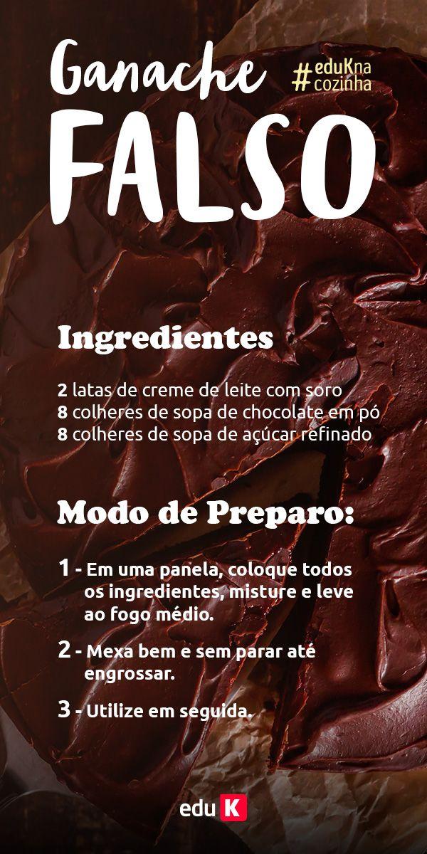 Que tal testar essa deliciosa receita de ganache falso? Além de delicioso e saboroso, simples de fazer! Para usar a deliciosa cobertura, aprenda a fazer saborosos bolos na eduK!