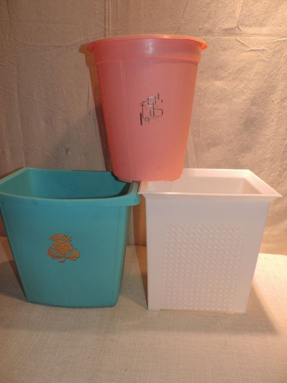 290 best images about very vtg kitchen trash cans on pinterest mid century modern metals and - Pink kitchen trash can ...