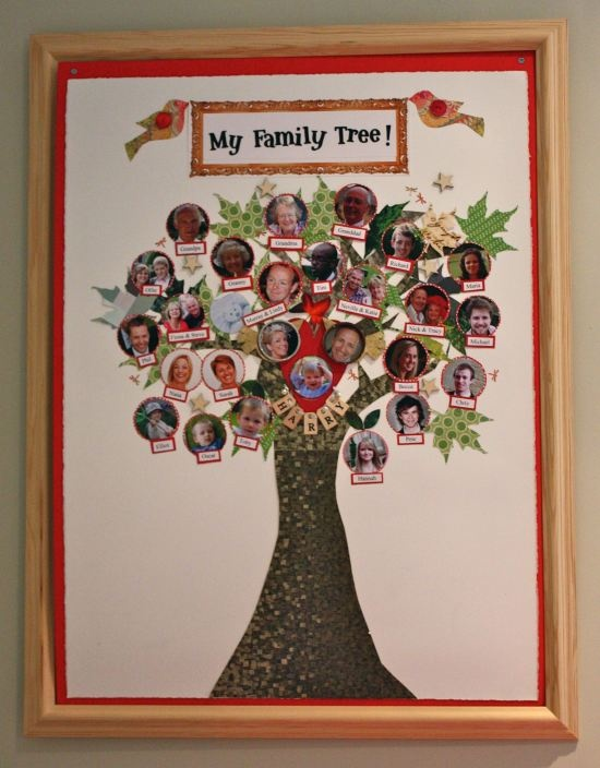 Homemade Family Tree Family Tree Project Family Tree