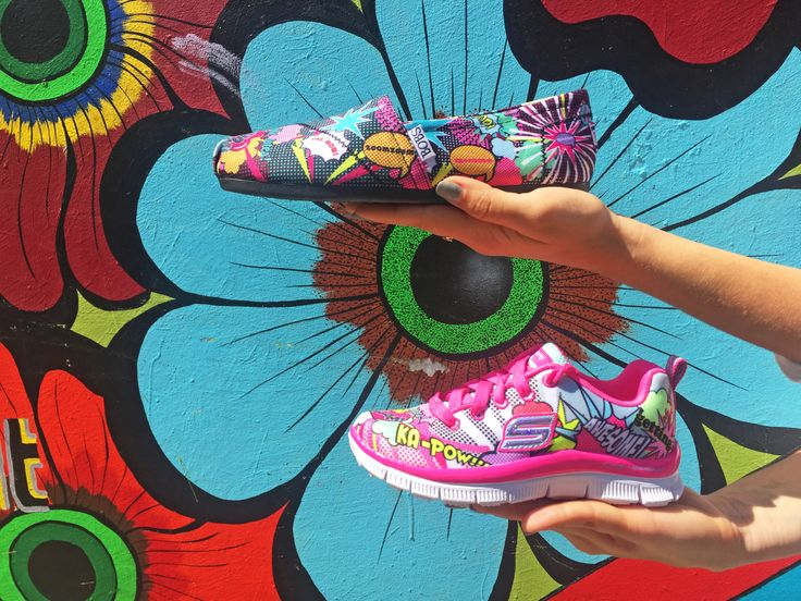 Art, for your feet! Color popping with every step.