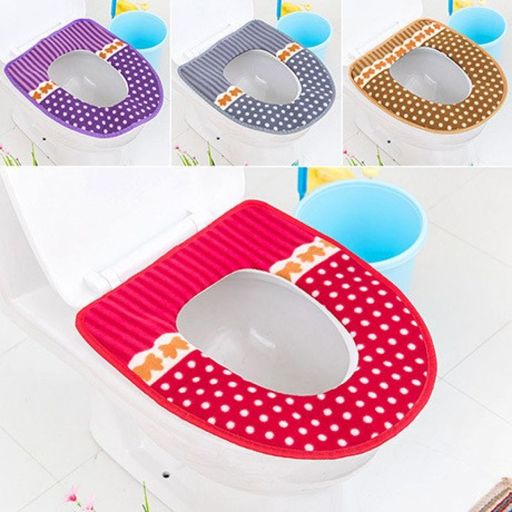 Bathroom Toilet Seat Cover Mat  Closestool Cloth Warmer Toilet Washable Cloth  #Unbranded #SinglepieceSet