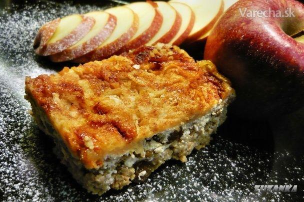 Pšenový nákyp s tvarohom a jablkami (fotorecept) - Recept