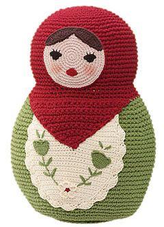 crochet pillow#naturadmc