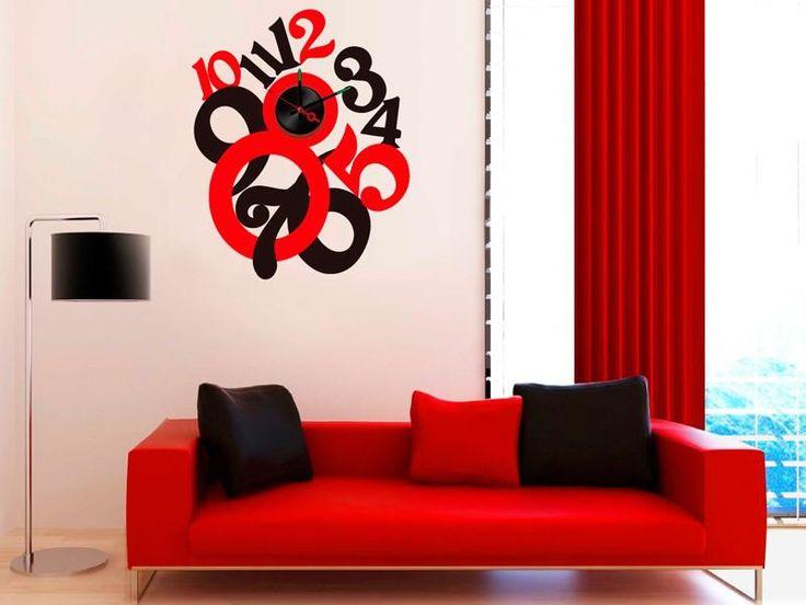 Reloj de pared decoraci n de interiores pinterest - Decoracion de paredes interiores ...