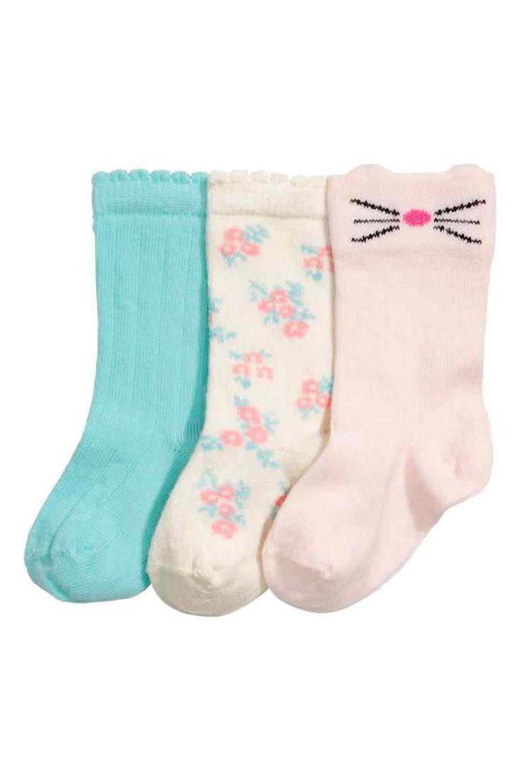 3 paria sukkia - Turkoosi - Kids | H&M FI 1