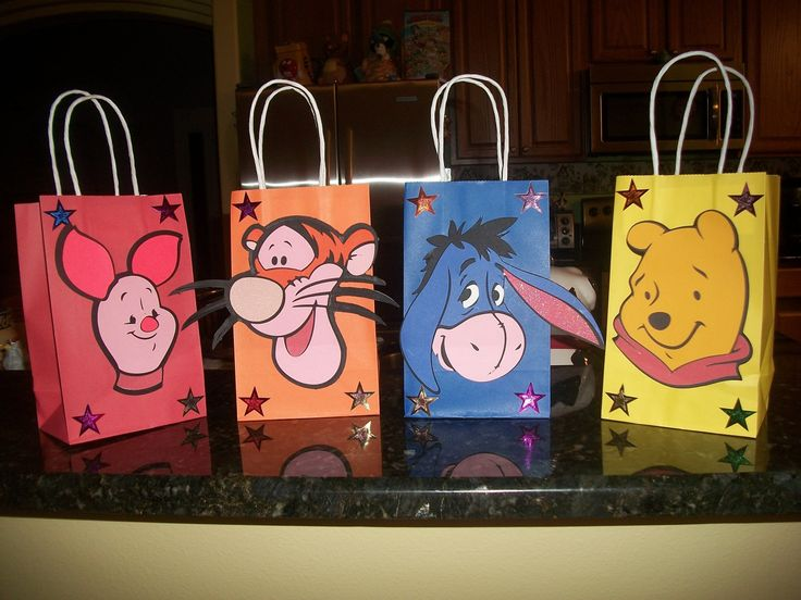 Cute One of a kind Winnie the Pooh Bear and Friends Party bags