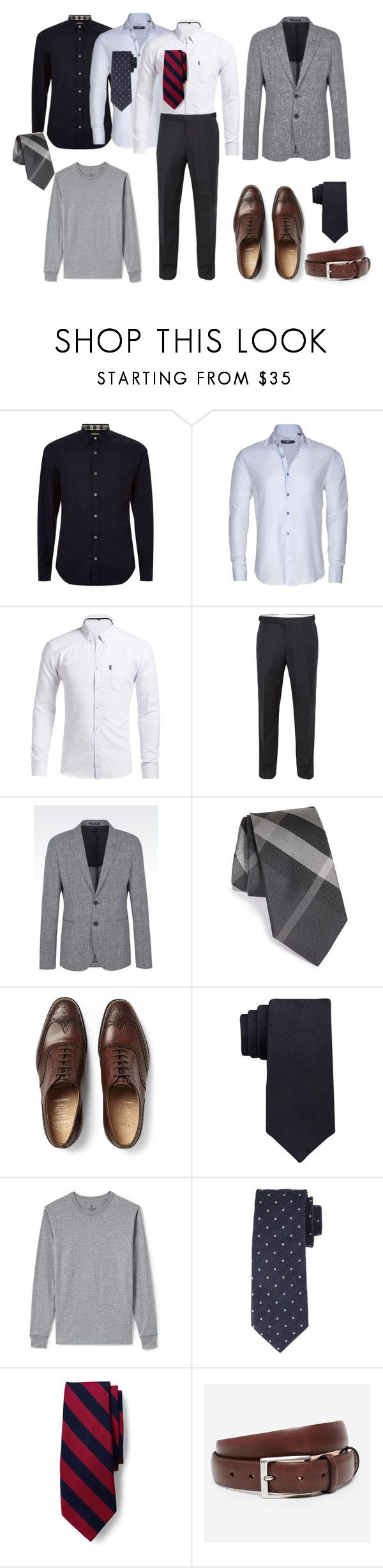 Мини-капсула делового гардероба by repriza on Polyvore featuring Burberry, Stone Rose, Lands' End, Paul Costelloe, Emporio Armani, Church's, Tom Ford, Bonobos, Calvin Klein and men's fashion