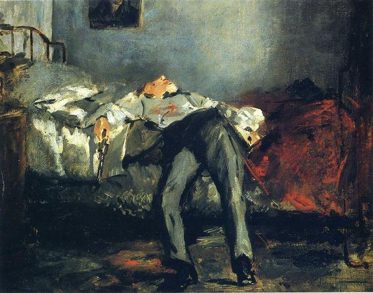 The Suicide, 1880 - Édouard Manet. Titulo original: Le Suicidé