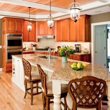 Odd shaped kitchen islands odd shape with island odd for Different shaped kitchen island designs with seating