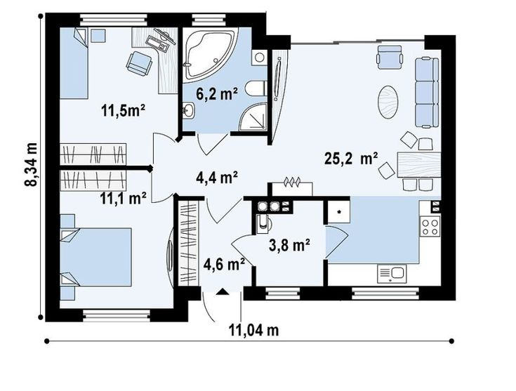 proiecte de case de 60-70 mp 60-70 square meter house plans 7