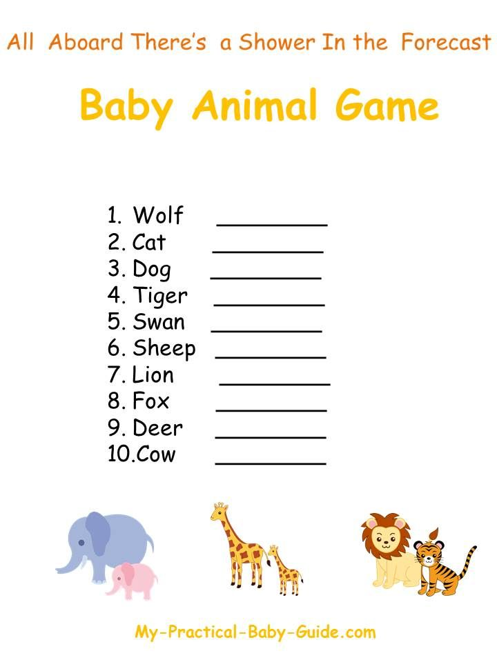free printable noah 39 s ark baby shower animal game click for