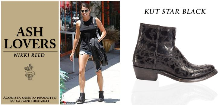 L'#attrice #NikkiReed indossa gli #stivaletti neri #KutStarBlack di #Ash! Per una #passeggiata di stile in città!