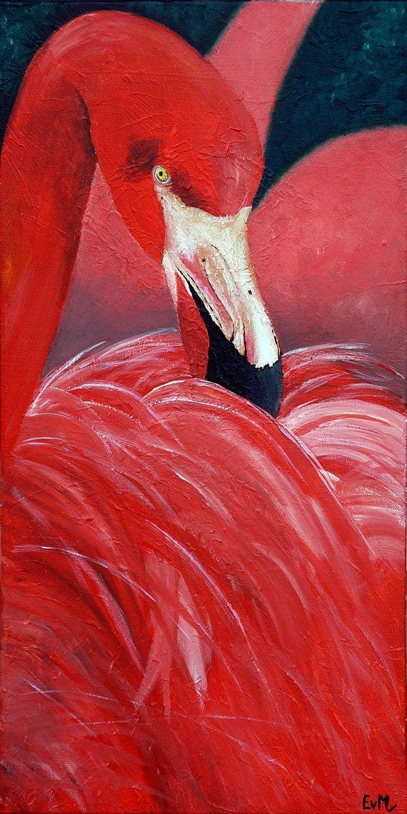 Bekijk dit items in mijn Etsy shop https://www.etsy.com/nl/listing/481149735/flamingo-kleurrijk-schilderij-op-3d-doek