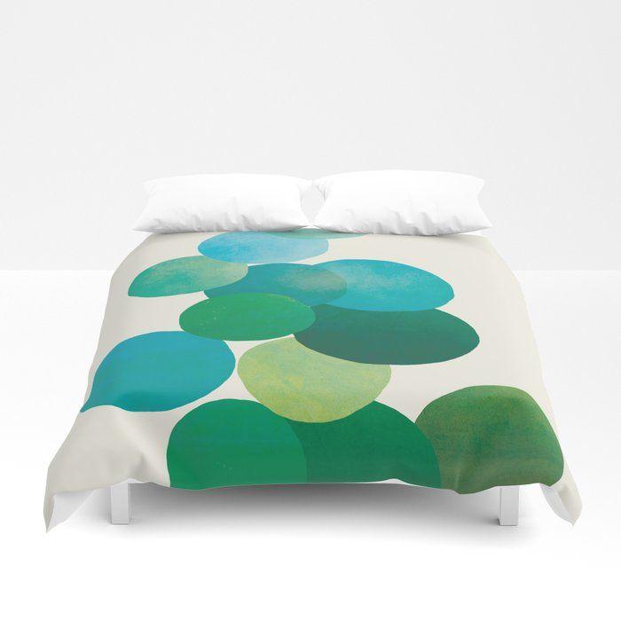 Buy Green Bubbles Duvet Cover By Cityart7 Worldwide Shipping