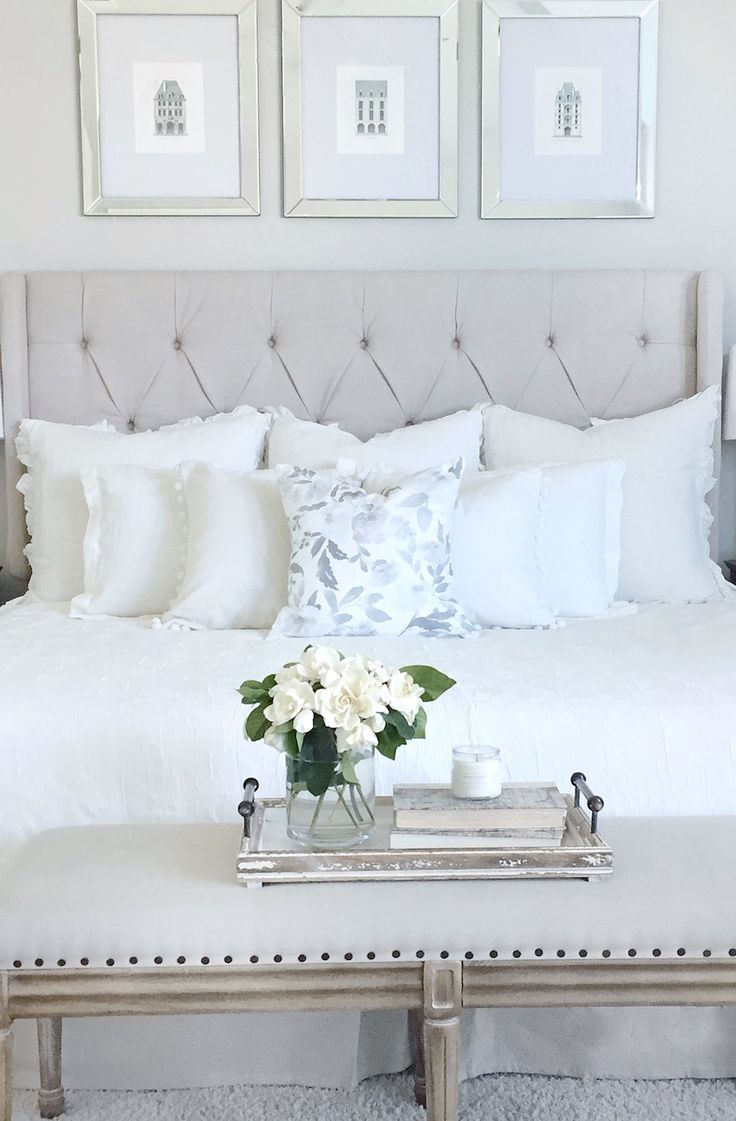 Beautiful Tour This Refined And Fresh Family Home In Dallas. White Comforter BedroomWhite  Bedroom DecorWhite ...